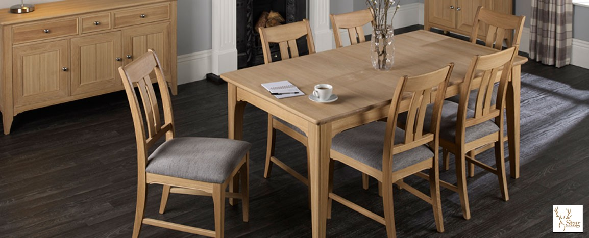 New England Solid Oak Ext Table and 6 Chairs  Was £2795   NOW £1799