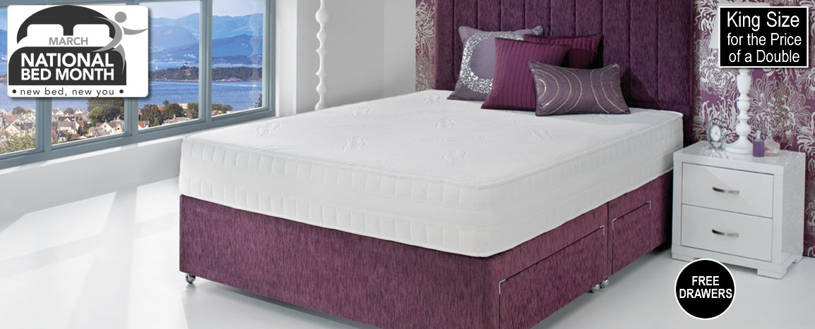 Thermaphase Echo 135 King Size Divan Set  RRP £2579   NOW £1699