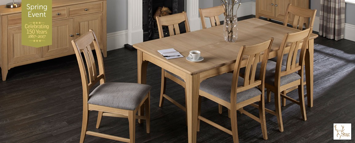 New England Solid Oak Extending Table & 6 Chairs  Was £2795   NOW £1799