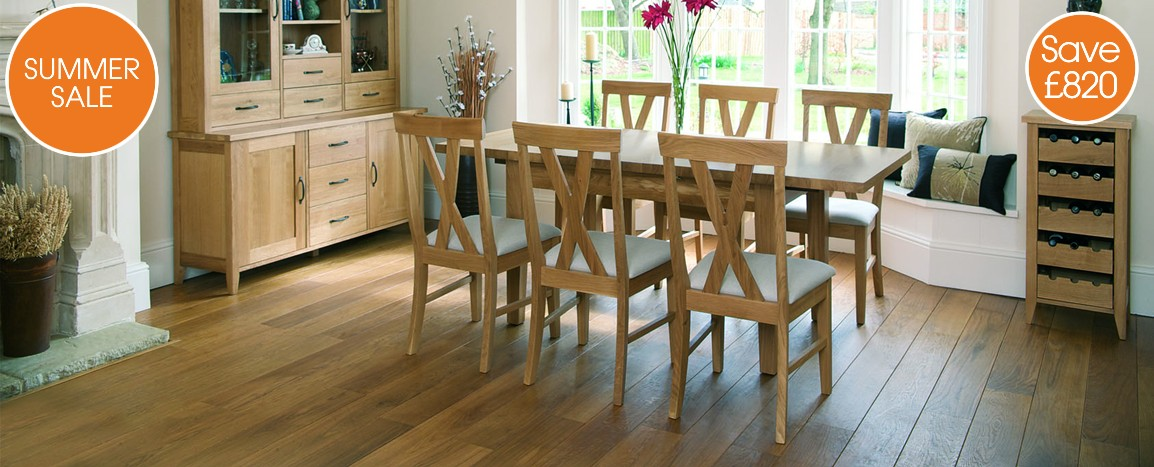 Windsor Oak Table and 6 Chairs    Was £1919    NOW £1099