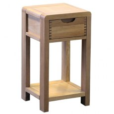 Bosco Bedroom Compact Side Table - Light Wood
