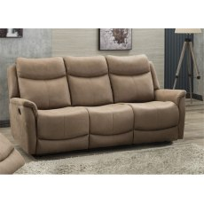 Alberta 3 Seater Manual Recliner Sofa
