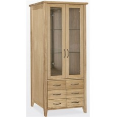 Windsor Dining Bookcase Glass Doors 6 Drawers
