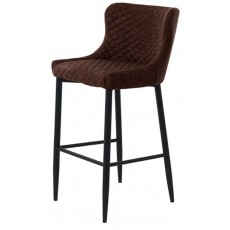 Chairs Ottowa Stool Brown PU with Black Metal Legs