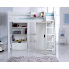 Kids Stuff White Bookcase Deep Drawer 2 Adjustable shelves