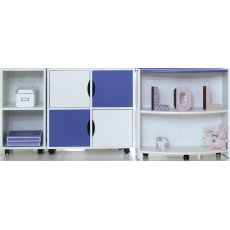 Kids Stuff White Duo Storage Unit