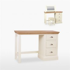 Coelo Bedroom Express Single Dressing Table in Lacq/Oyster White