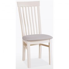 Coelo Dining Express Swell Chair Fabric F19 in Oyster White