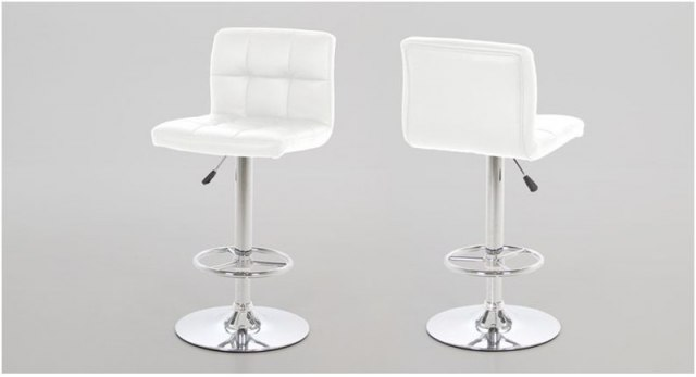 Contemporary Dining Hot Barstool - White