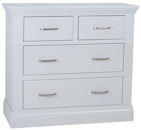 Coelo Bedroom With Painted Tops 2+2 Drawer Chest