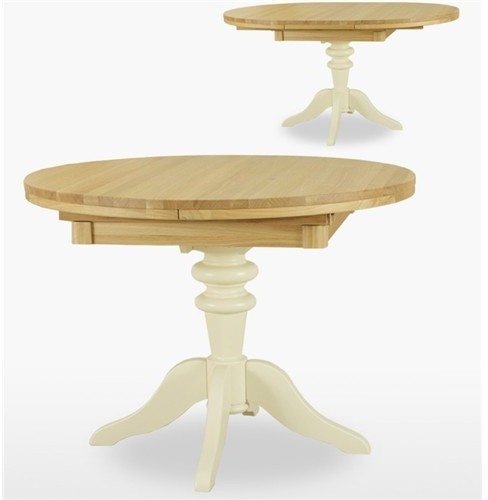 Tch Furniture Coelo Dining Round Extending Pedestal Table Dining Ranges R