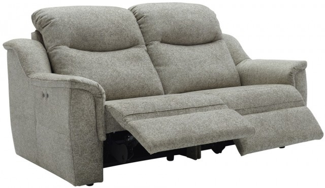 Firth (Fabric) 3 Seater Power Recliner Sofa Double