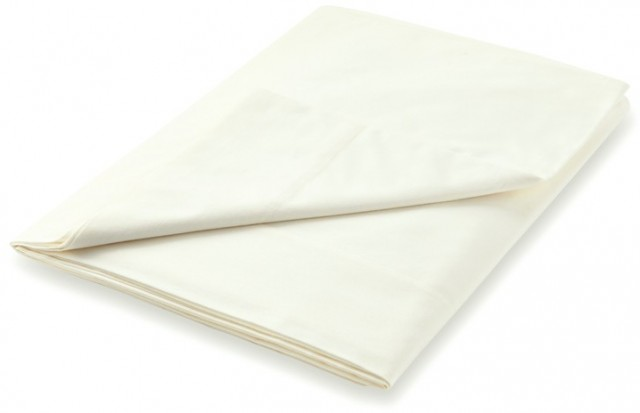 Peacock Blue Hotel 600TC Ivory Fitted Sheet - Single