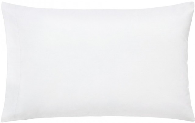 Peacock Blue Hotel 300TC Housewife White Pillowcase