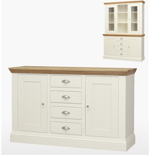 Coelo Dining Express 4 Drawer 2 Door Sideboard in Lacq/Morning Dew