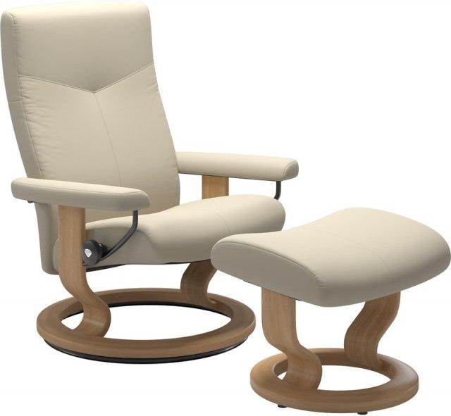 Incredible Stressless Dover Medium 1346015 Chair Stool Classic Base Creativecarmelina Interior Chair Design Creativecarmelinacom