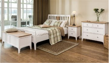 Stag New England Bedroom - Painted Oak