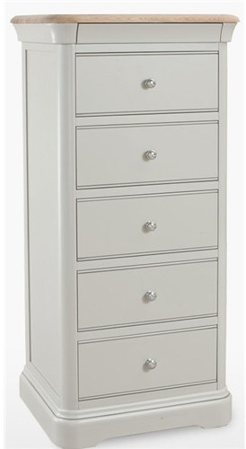 new style 9d834 d5010 Cromwell Bedroom 5 Drawer Tall Narrow Chest