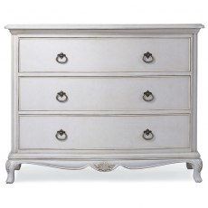Ivory 3 Drawer Low Chest