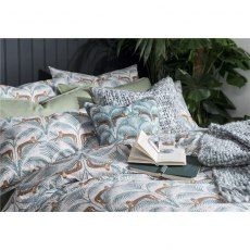 Fat Face Lounging Leopards Duvet Set - King & 2 Standard Pillowcases