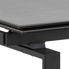 Huddersfield Huddersfield Dining Table 160/240cm Black Ceramic & 4 Batilda Chairs Dark Grey