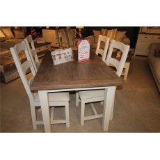 Clearance - Dining Cheltenham 140cm Ext Dining Table and 4 Chairs