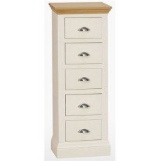Coelo Bedroom 5 Drawer Narrow Chest