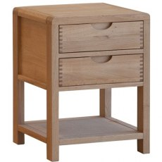 Bosco Bedroom 2 Drawer Bedside Cabinet