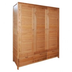 Bosco Bedroom 3 Door Wardrobe