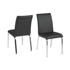Contemporary Dining Leonora Dining Chair - Black