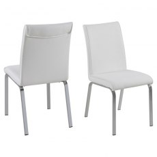 Contemporary Dining Leonora Dining Chair - White