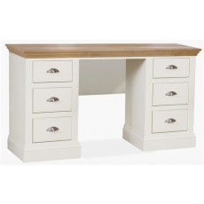 Coelo Bedroom Double Pedestal Dressing Table