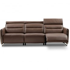 Emily 3 Seater Sofa w/2 power left steel arm