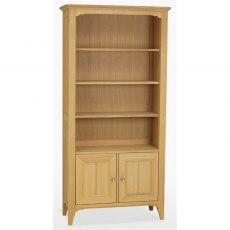 New England Dining Express 2 Door Bookcase in Mist Finish
