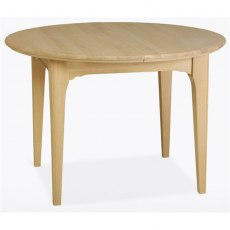 New England Dining Express Round Extending Table in Lacquered Finish