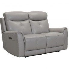 Modena 2 Seater Power Recliner Sofa in Stock Colour H/S 6101 Mid Grey