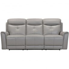 Modena 3 Seater Power Recliner Sofa in Stock Colour H/S 6101 Mid Grey