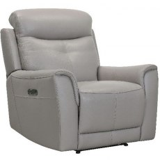 Modena Power Recliner Chair in Stock Colour H/S 6101 Mid Grey