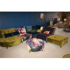 Arianne Love Module 1(x2), Corner Module, Chaise Longe, Footstool and Large Round Footstool