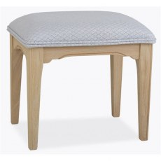 Stag New England Bedroom - Oak Bedroom Stool fabric seat