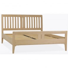 Stag New England Bedroom - Oak Double Slat Bed