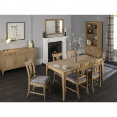 Stag New England Dining - Oak Extending Table & 6 Vermont Fabric Chairs