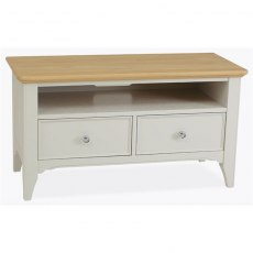 Stag New England Dining - Painted Oak TV Unit