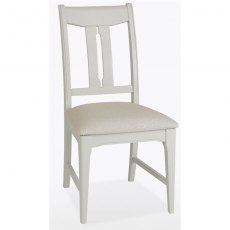Stag New England Dining - Painted Oak Vermont Chair - seat pad in leather