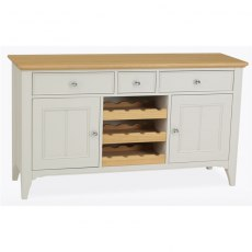 Stag New England Dining - Painted Oak Wide Sideboard with Wine Rack