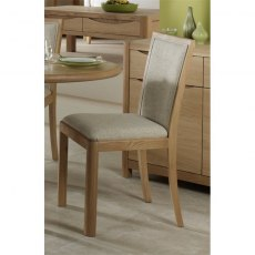 Malmo Upholstered Back Chair Natural Fabric