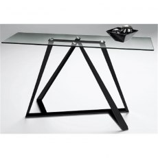 Constellation Console Table - Matt Black