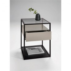 Tribeca Lamp Table with Drawer