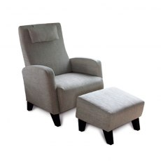 Accent Chairs GB014 Arthur Chair & Footstool