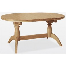 Windsor Dining - Oak Double Pedestal Extending Table